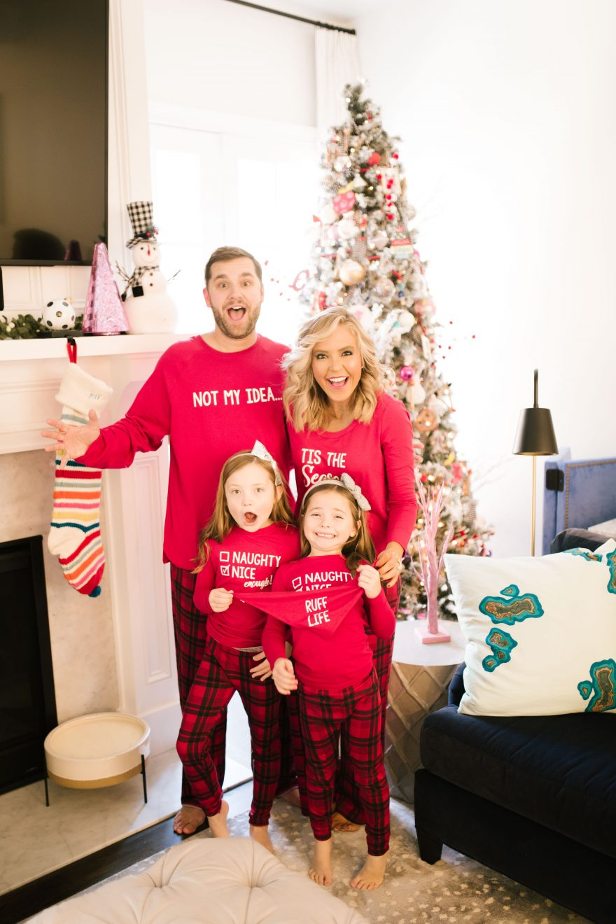 Holiday Gift Guide: Matching Family Holiday Pajamas featured by top US fashion blog, Hello! Happiness.
