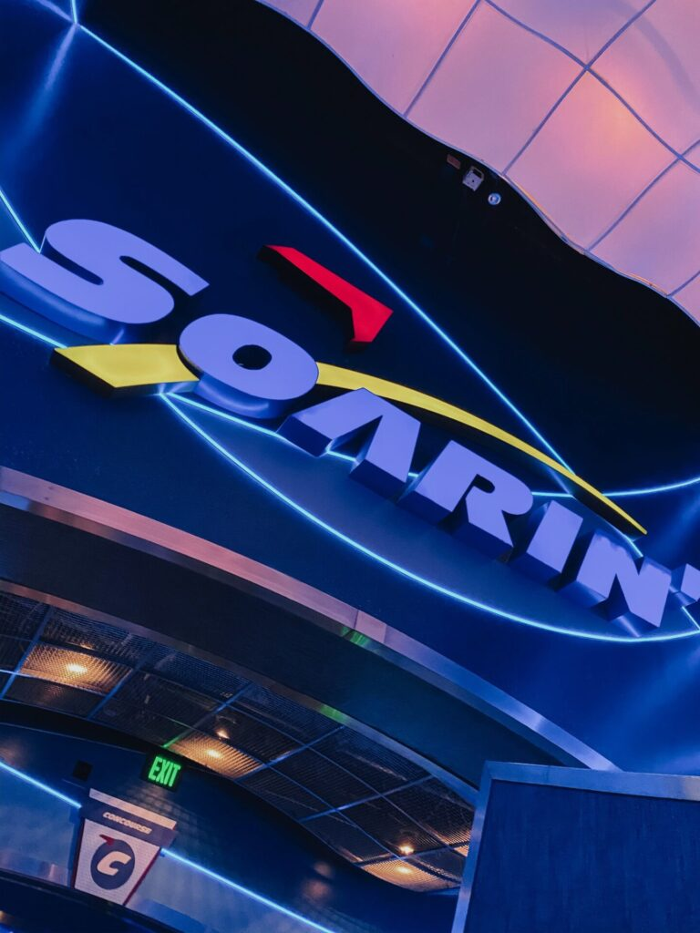 Disney Creators Celebration by popular Nashville lifestyle blog, Hello Happiness: image of Soarin' ride entrance.