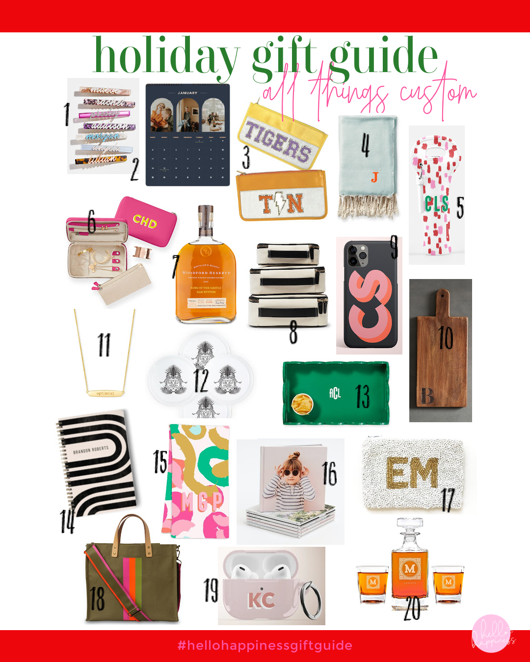 Unique Custom Gift Ideas featured by top Nashville lifestyle blogger, Hello Happiness.